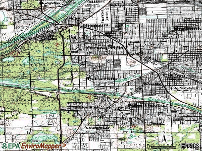 Palos Hills topographic map