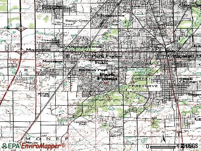 Park Forest topographic map