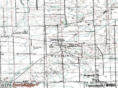 Paw Paw topographic map