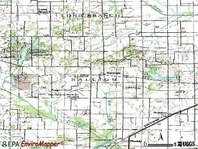 Raleigh topographic map