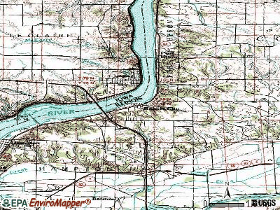 Rapids City topographic map