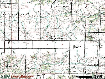 Reynolds topographic map