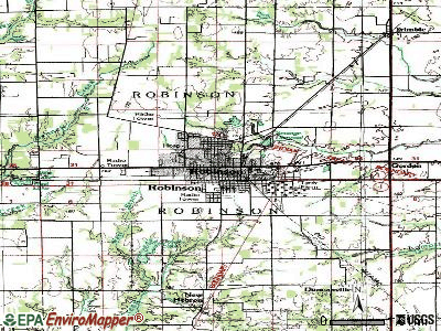 Robinson topographic map