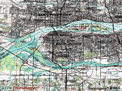 Rock Island topographic map
