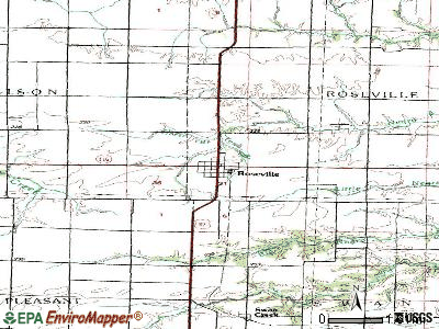 Roseville topographic map