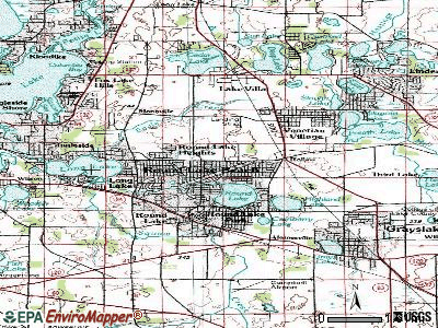 Round Lake Beach topographic map