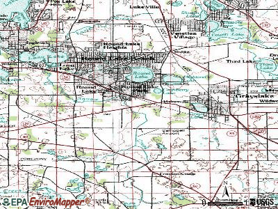 Round Lake Park topographic map