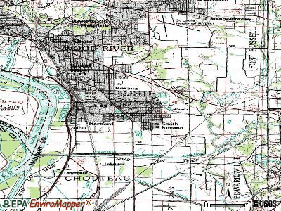 Roxana topographic map
