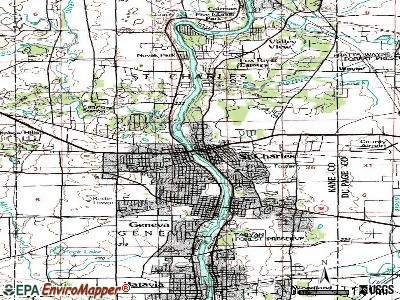 St. Charles topographic map
