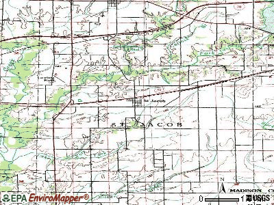St. Jacob topographic map