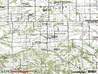 Scales Mound topographic map