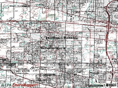Schaumburg topographic map
