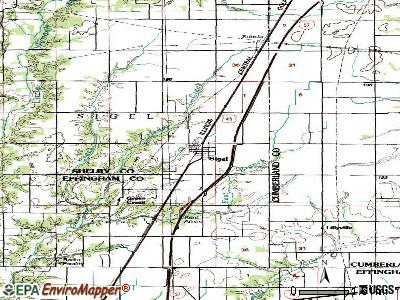 Sigel topographic map