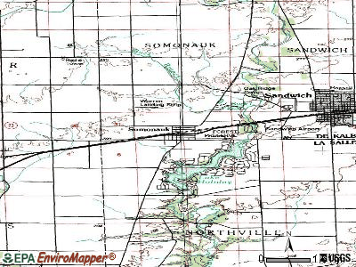 Somonauk topographic map