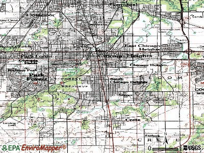 South Chicago Heights topographic map