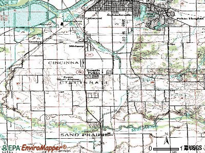South Pekin topographic map