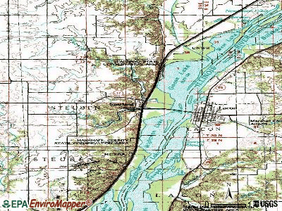 Sparland topographic map