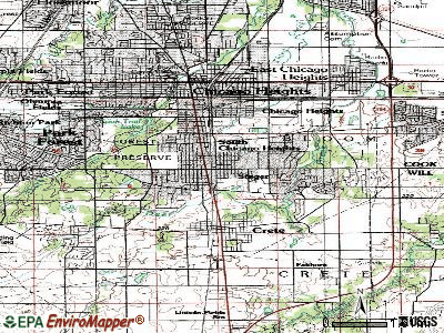 Steger topographic map