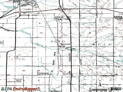 Steward topographic map