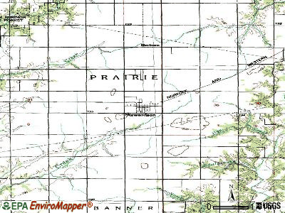 Stewardson topographic map