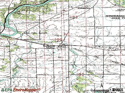 Stillman Valley topographic map