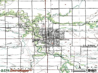 Streator topographic map