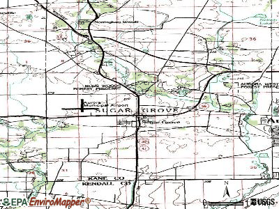 Sugar Grove topographic map