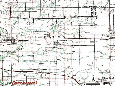 Summerfield topographic map