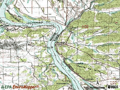 Thebes topographic map