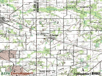 Tilden topographic map