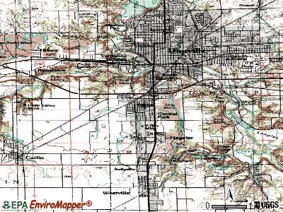 Tilton topographic map