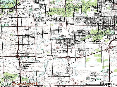 Tinley Park topographic map