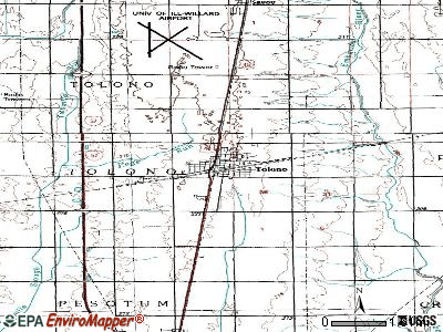 Tolono topographic map
