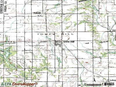 Tower Hill topographic map