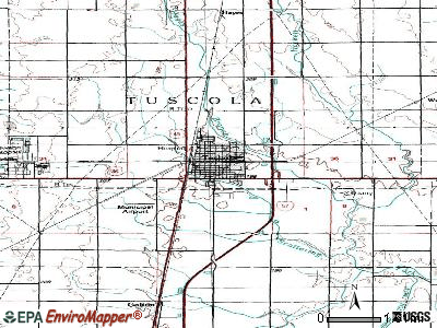 Tuscola topographic map
