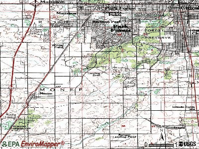 University Park topographic map