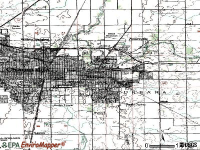 Urbana topographic map