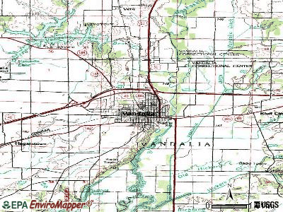 Vandalia topographic map