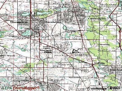 Vernon Hills topographic map