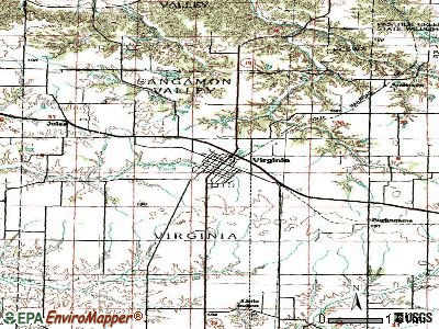 Virginia topographic map