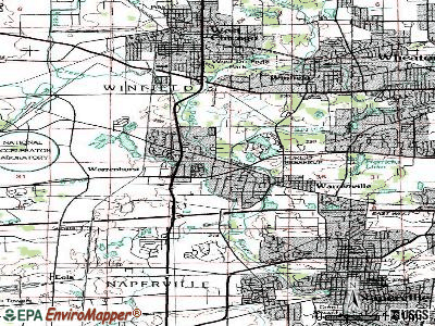Warrenville topographic map