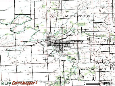 Watseka topographic map