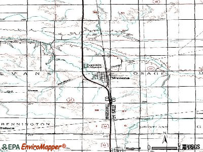 Wenona topographic map