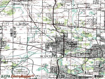 West Chicago topographic map