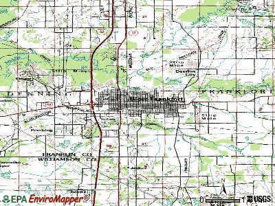 West Frankfort topographic map