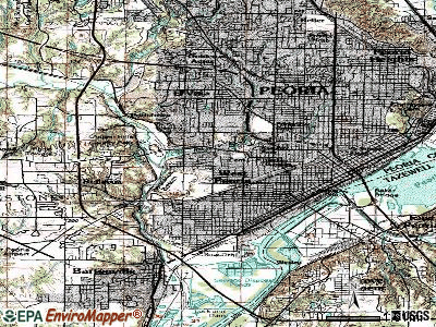 West Peoria topographic map