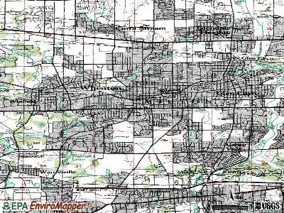 Wheaton topographic map