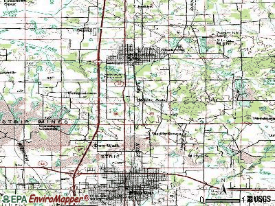 Whiteash topographic map