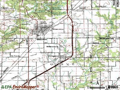 Williamson topographic map