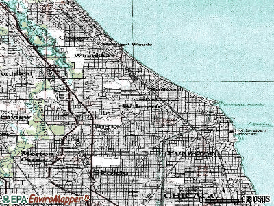 Wilmette topographic map